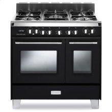 "Matte Black Verona Classic 36"" Dual Fuel Double Oven Range"