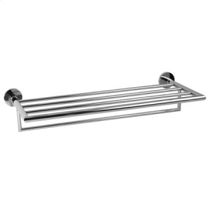 "Polished Nickel 24"" Hotel Shelf Frame with Towel Bar"