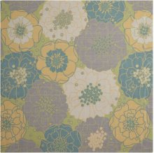 Home & Garden Rs021 Gre Square Rug 6'6'' X 6'6''
