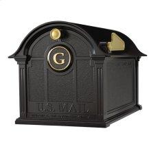 Balmoral Mailbox Monogram Package - Black