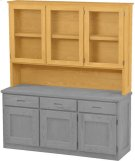 Triple Hutch, with Glass Doors Product Image