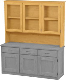 Triple Hutch, with Glass Doors