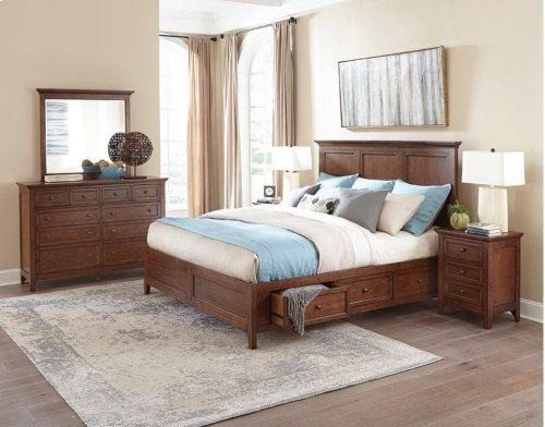 San Mateo Queen Bed Storage Side Rails