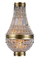 1209 Stella Collection Wall Sconce W:9.5in H:17.5in Ext: 4.5in Lt:2 French Gold Finish Royal Cut Crystal (Clear) Product Image