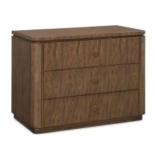 Daultry Three Drawer Nightstand