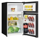 3.1 CF Two Door Counterhigh Refrigerator - Black Product Image