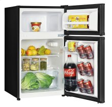 3.1 CF Two Door Counterhigh Refrigerator - Black