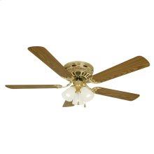 """Millbridge 3-Light Hugger Mount Ceiling Fan 52"""", Polished Brass #156604"""