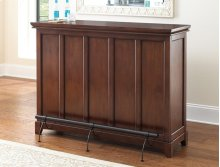 "Martinez Counter Bar Unit, Cherry, 56"" x 18"" x 38"" (KD)"