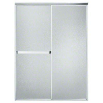 "Standard Sliding Shower Door - Height 65"", Max. Opening 52"" - Silver"
