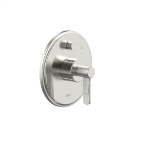 Satin Nickel Wallace (Series 15) Tub and Shower Trim Plate with Handle