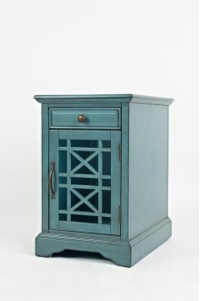 Craftsman Power Chairside Table - Antique Blue