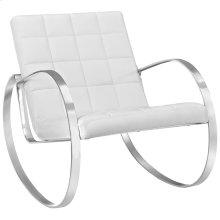 Gravitas Upholstered Vinyl Lounge Chair in White