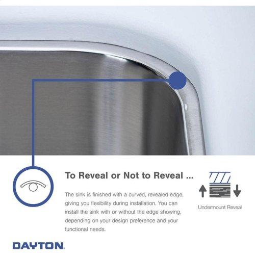 "Dayton Stainless Steel 16"" x 20-1/2"" x 8"", Single Bowl Undermount Bar Sink"