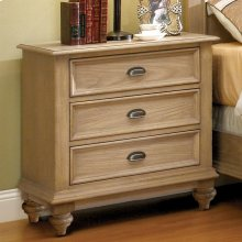 Coventry - Three Drawer Nightstand - Weathered Driftwood Finish