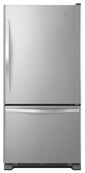 33-inches wide Bottom-Freezer Refrigerator with SpillGuard Glass Shelves - 22 cu. ft Product Image