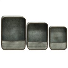 Set Of 3 metal storage