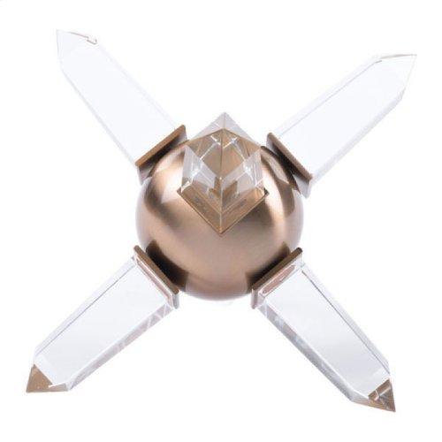 Crystal Sphere Antique Brass