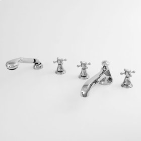 300 Series Roman Tub Set with Diverter Handshower and St. Michel Handle (available as trim only P/N: 1.305593T)