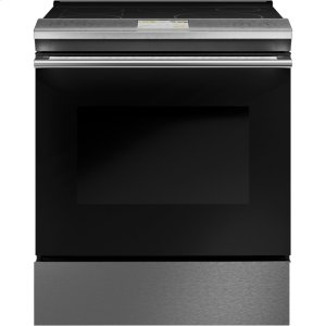 "GE30"" Smart Slide-In, Front-Control, Induction and Convection Range in Platinum Glass"