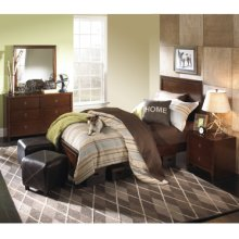 New Albany 4-Pc. Full Bedroom Set - Full Panel Bed, 6-Drawer Dresser, Mirror, Nightstand