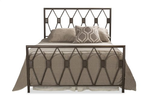 Tripoli King Bed Set Without Rails (black Pewter)