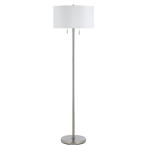 60W X 2 Calais Metal Floor Lamp