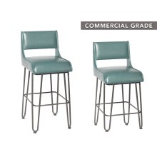 "Dillon Counter Stool Teal 21.8x""18.1""x35.5"""