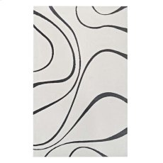 Therese Abstract Swirl 8x10 Area Rug in Ivory and Charcoal Product Image