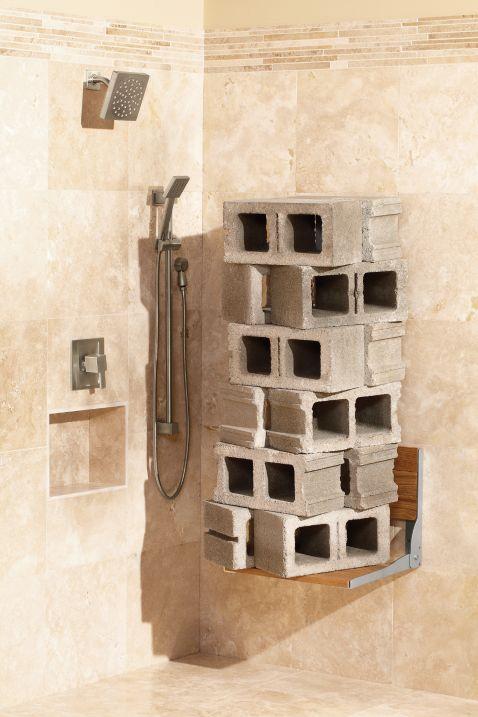 Bon Hidden · Additional Moen Home Care Teak Folding Shower Seat