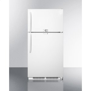 Summit20.9 CU.FT. Refrigerator-freezer With Dual Combination Lock and Frost-free Operation