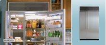 "48"" Refrigerator Freezer - 48"" Marvel Side-by-Side Combination Refrigerator Freezer - White Interior with Stainless Steel Doors"