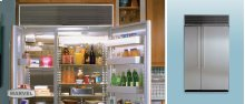 """48"""" Refrigerator Freezer - 48"""" Marvel Side-by-Side Combination Refrigerator Freezer - (2) 24"""" Top Freezer Units Side -by-Side White Interior with Stainless Steel Doors"""