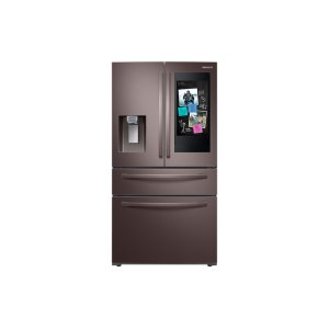 Samsung22 cu. ft. Counter Depth 4-Door French Door Refrigerator with Touch Screen Family Hub in Tuscan Stainless Steel
