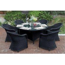 228 / Liz.p22- 7PC OUTDOOR PATIO TABLE SET [P50265(1)+P50134(6)]