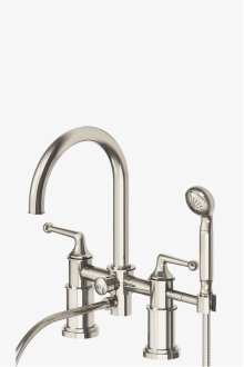Dash Deck Mounted Exposed Tub Filler with Metal Handshower and Lever Handles STYLE: DSXT50