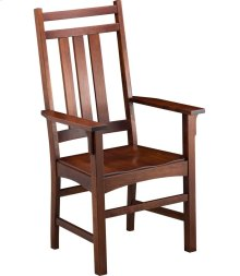 Mission Slat Arm Chair - Wood Seat