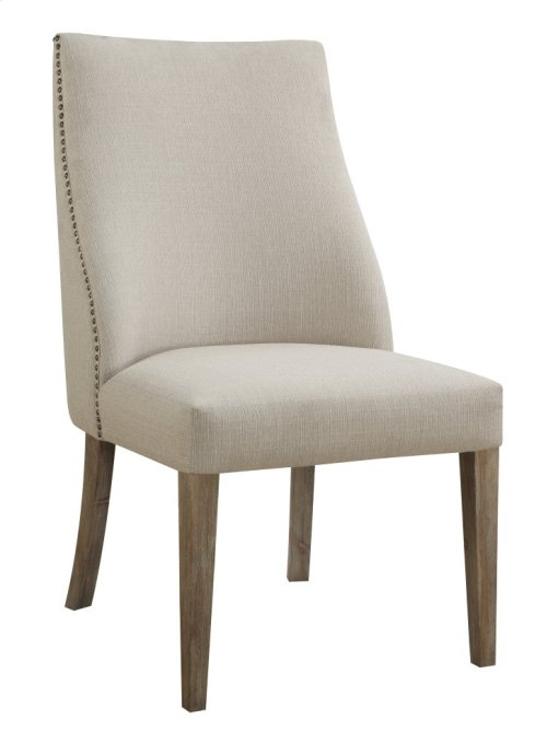 Emerald Home Barcelona Side Chair Natural With Linen Upholstery D551-20