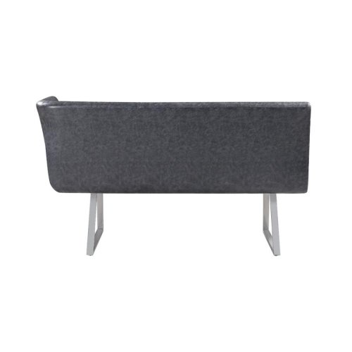 Contemporary Grey Left Side Facing Corner Bench