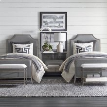Twin Palisades Upholstered Panel Bed