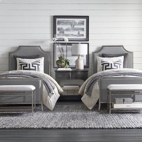 Full Palisades Upholstered Panel Bed