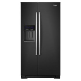 Black Ice Whirlpool® 26 cu. ft. Side-by-Side Refrigerator with Temperature Control