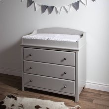 Changing Table with Drawers - Soft Gray