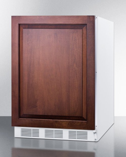 ADA Compliant Built-in Undercounter All-refrigerator for General Purpose Use, Auto Defrost W/integrated Door Frame for Custom Panel Overlays and White Cabinet