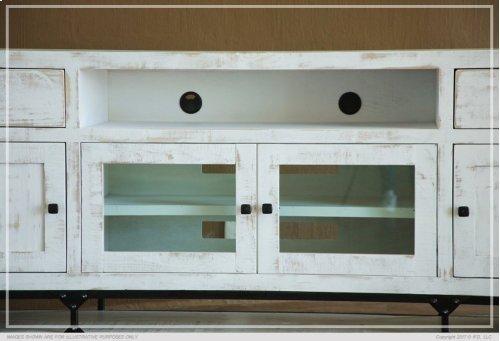 """60"""" TV Stand w/ 2 Drawer, 2 Door & 2 Glass Door"""