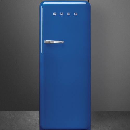 "Approx 24"" 50'S Style Refrigerator with ice compartment, Blue, Right hand hinge"