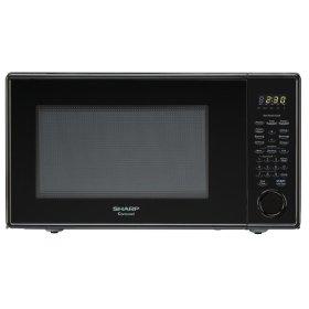 Countertop Microwave Small Footprint : ... IL - Sharp Carousel Countertop Microwave Oven 1.1 cu. ft. 1000W Black