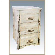 Montana Log Nightstand with 3 Drawers