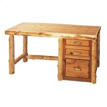 File Desk without keyboard slide - Natural Cedar