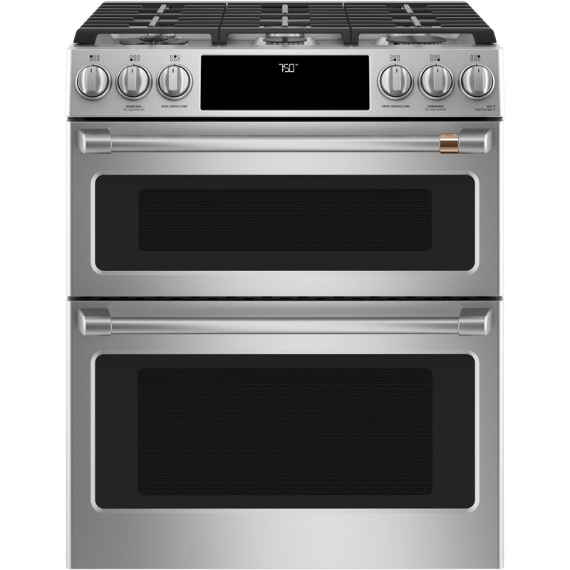 """30"""" Smart Slide-In, Front-Control, Gas Double-Oven Range with Convection"""